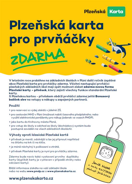 Plzeňská karta pro prvňáčky 2021